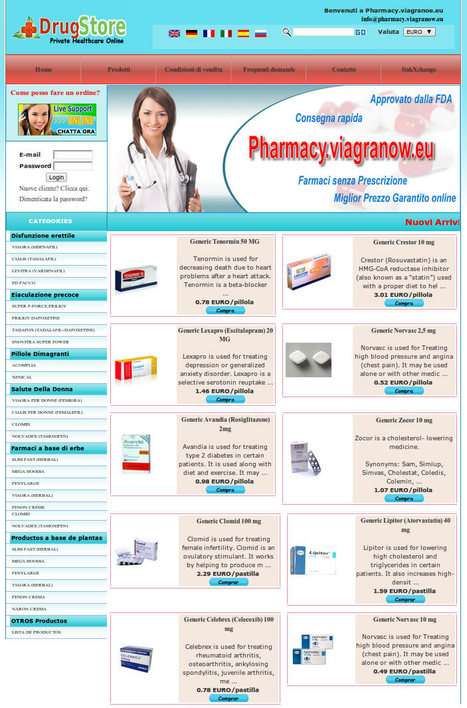 Farmacia Online Italia: http://pharmacy.viagranow.eu Acquista Viagra, Levitra e Cialis online per impotenza. | online pharmacy | Scoop.it