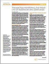 TRANSACTION MONITORING: The Front Line of Australian AML compliance | Thomson Reuters Accelus | Scoop.it