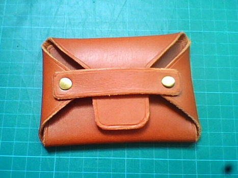 Brown Vegetable tanned  wallet unisex | simple Card Case | Collection of backpack | Scoop.it