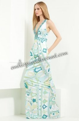 Emilio Pucci V-neck Printed Jersey Maxi Dress Blue Mint [Blue Mint Maxi Dress] - $205.99 : Emilio pucci dresses online outlet,discount pucci dresses on sale! | chic items | Scoop.it