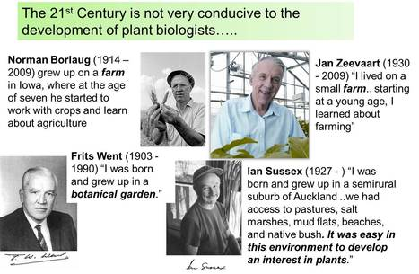 The 21st century is not very conducive to the development of plant scientists...   Biology of plant   Scoop.it