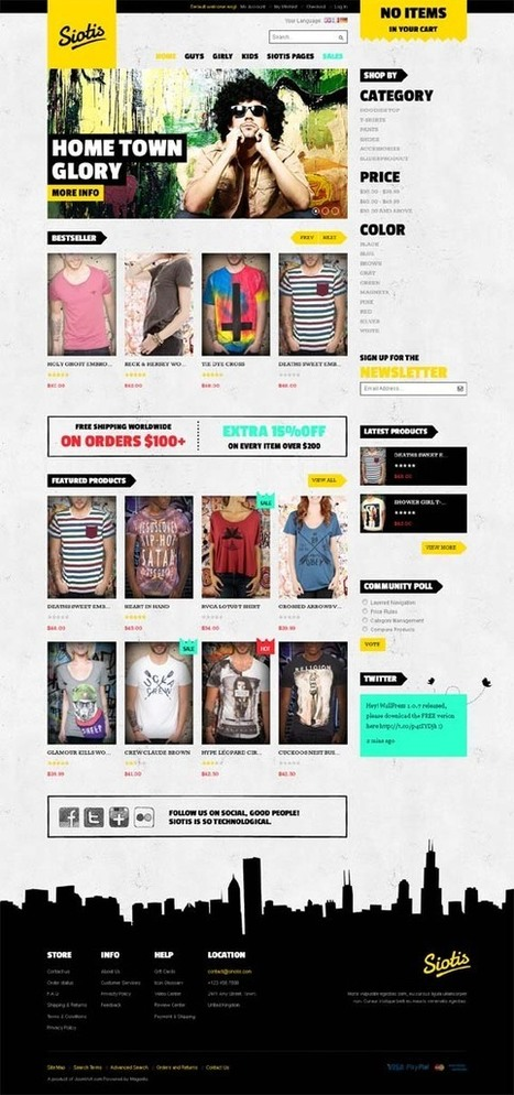 JM Siotis, Magento Responsive Yellow Fashion Theme | Premium Download | Premium Magento Themes | Scoop.it