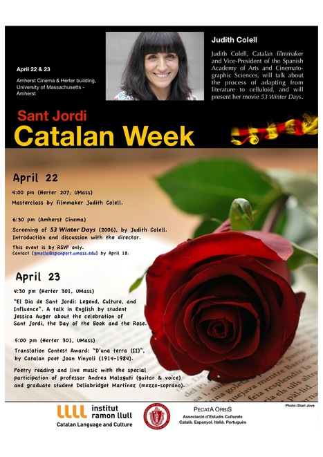 Catalan Week  with roses, poems and Judith Colell.... | Dept. Languages, Literatures and Cultures at the University of Massachusetts Amherst | Scoop.it