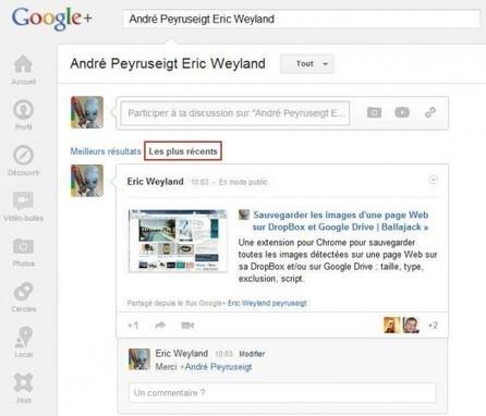 Suivre ses échanges privés sur Google+   Geeks   Scoop.it