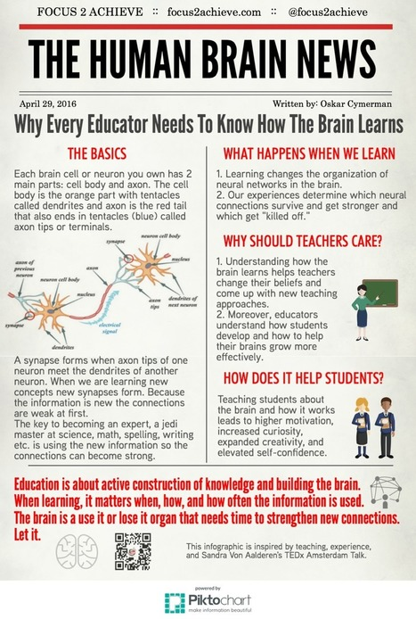Brain Hacking 304: Why Every Educator Needs To Know How The Brain Learns | #LEARNing2LEARN #Infographic | Education Matters | Scoop.it