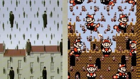 Nintendo : les tableaux de Magritte revisités   Jeux vidéo   Scoop.it