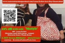 DIY Learn To Sew for Earthday 2013 | Brooklyn By Design | Scoop.it