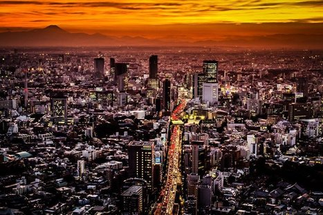 Dawn in a large Tokyo. Watch online backgrounds cities and countries. Tokyo, Japan, Kanto, Honshu. | CityWallpaperHD | Scoop.it