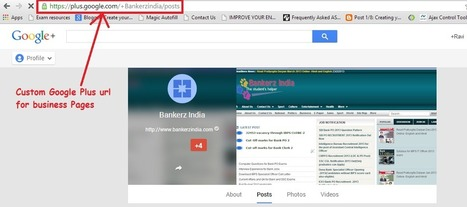 How to get Custom Google Plus URL for your profile and business pages? | Blogging | Scoop.it
