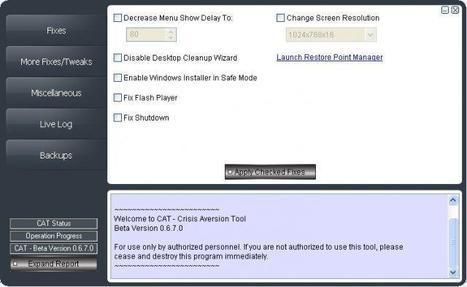 Résoudre les problèmes d'un PC : Crisis Aversion Tool (CAT) | Time to Learn | Scoop.it