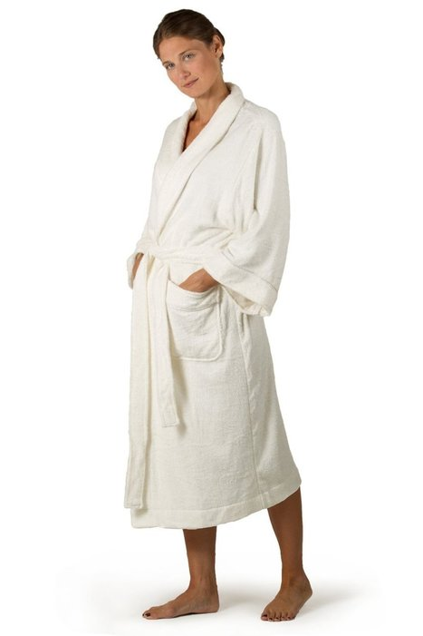 Cotton-Robe, 30% Bamboo, 70% Cotton, Natural White, One Of The Best Ladies-Robes | Christmas Gifts | Scoop.it