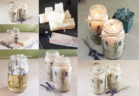 Evde dekoratif lavantalı mum yapımı | El Yapımı | Pek Marifetli! | KADIN SİTESİ | Scoop.it