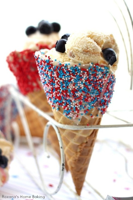 4th of July ice cream cones recipe — Roxana's Home Baking | Fourth of July Food | Scoop.it