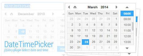 Selecciona fecha y hora con DateTime picker para jQuery por Diseño Web Coruña Martín Iglesias | Diseño Web Coruña Martin Iglesias | Scoop.it