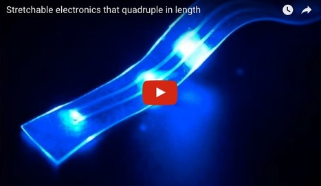 Stretchable electronics with liquid metal in them quadruple in length | Amazing Science | Scoop.it
