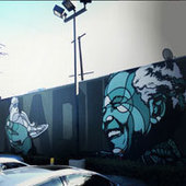 Street Art Spotter: Honoring Nelson Mandela with Peace and a Dove - LA Magazine (blog) | Photography Culture | Scoop.it