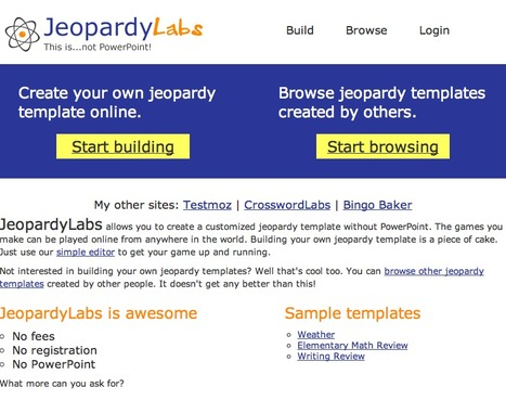 JeopardyLabs - Online Jeopardy Template | Technology Uses in the Classroom for Newbies! | Scoop.it