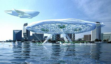 """Aerohotel"". Conceptual project of a hotel on water 