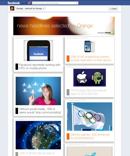 Orange | Facebook | Showcase of custom topics | Scoop.it