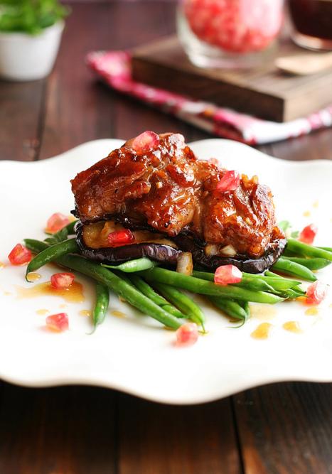 lovefood: ensalada de pollo crujiente con berenjenas asadas, judías verdes y aliño de granada | À Catanada na Cozinha Magazine | Scoop.it