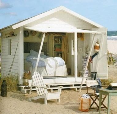 La minute d co cabines et maisons de pl for Deco maison de plage