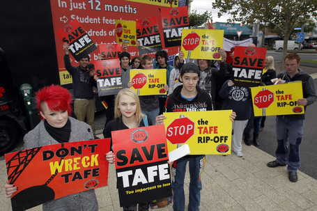 TAFE 'rip-off' protest - Warrnambool Standard | TAFE in Victoria | Scoop.it