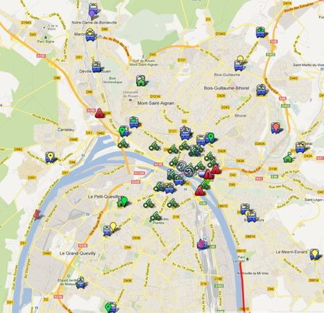 CREA P+R, Cyclor, abri-vélo | google #map Mathilde @solupont | Spidercauchois | Scoop.it