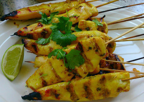 Thai Chicken Satay Recipe | Letitia's Foodie Nation | Scoop.it
