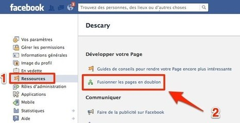 Facebook: comment fusionner plusieurs Pages et transformer votre profil en Page | Social Media for dummies | Scoop.it