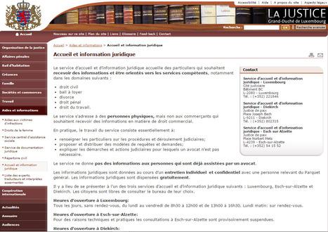 Accueil et information juridique - La Justice // Luxembourg - Aides et informations | Luxembourg (Europe) | Scoop.it