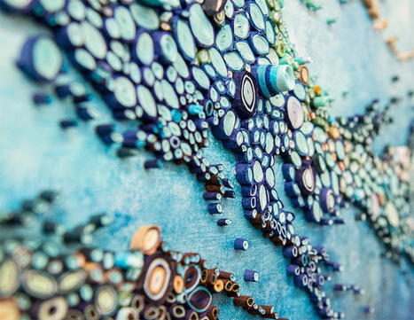 Swirling Ocean Reefs Created From Vibrant Rolls of Paper | Le It e Amo ✪ | Scoop.it