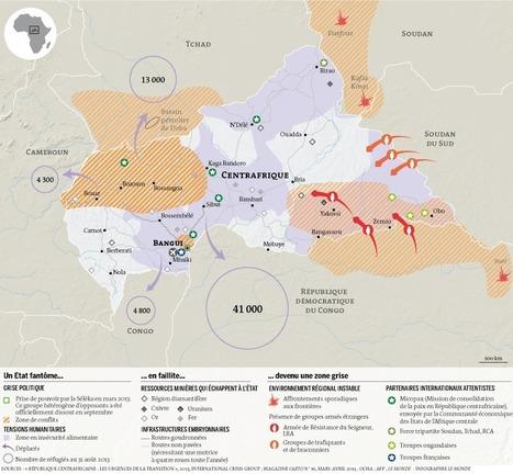Carte du Centrafique (Le Monde) | ECS Géopolitique de l'Afrique et du Moyen-Orient | Scoop.it