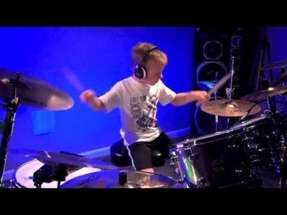 6 Year Old Drum Prodigy Avery Molek Drumming To ''Paradise City'' By Guns N Roses! He Totally Nails It! | HotHotter | Scoop.it