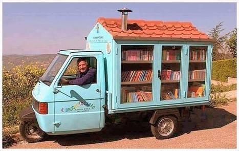En Italie, Antonio La Cava, ancien instituteur, parcourt la campagne à bord de son Bibliomotocarro afin de transmettre sa passion des livres aux enfants défavorisés...   The Blog's Revue by OlivierSC   Scoop.it