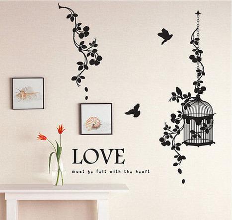 Love Must Be Felt With The Heart Birds and Vine Wall Sticker – WallStickerDeal.com   Birds & Animals Wall Stickers   Scoop.it