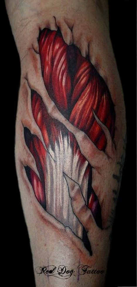 35 Amazing Ripped Skin Tattoo Design and Ideas | Tattoos Era | Social Media Marketer & SEO Experts | Scoop.it