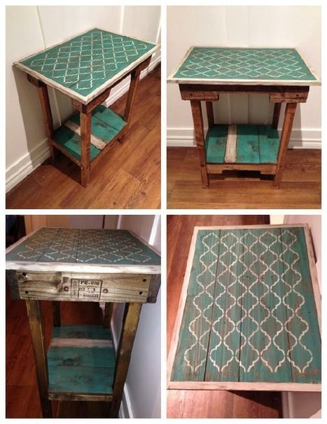 Shabby Chic Accent Table From Repurposed Pallets | Upcycled Objects | Scoop.it