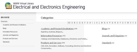 WWW Virtual Library - Electrical and Electronics Engineering | Sonido Imagen y Telecomunicaciones | Scoop.it