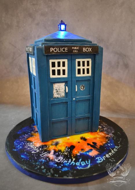 Tardis Cake Tutorial | Artisan Cake Company | Cake Decorating | Scoop.it