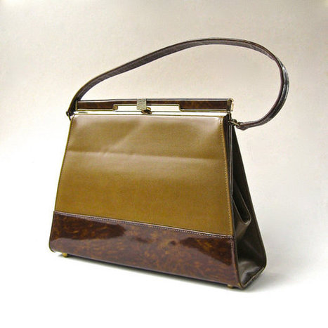 60s vintage Vinyl  Handbag | QuiteQuainte | Scoop.it