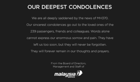 Chinese agencies halt sales of Malaysia Airlines after MH 370 incident | Online Marketing | Scoop.it
