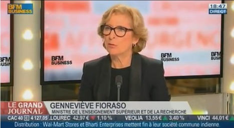 "Vidéo : ""Geneviève Fioraso, ministre de l'enseignement supérieur et de la recherche, dans Le Grand Journal de BFM Business"" 