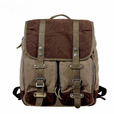 Distressed leather and canvas patrol tactical  haversack from Vintage rugged canvas bags | Collection of backpack | Scoop.it