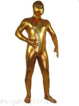 Silver and Golden Shiny Metallic Zentai Suit free shipping - wholesale Multicolor Zentai - wholesale Shiny Metallic Zentai Suits - wholesale Catsuits & Zentai - CosplayGate.com | spiderman suit,spiderman costumes wholesale | Scoop.it