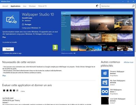 Wallpaper Studio 10 avec Windows 10, par Thierry. | Freewares | Scoop.it
