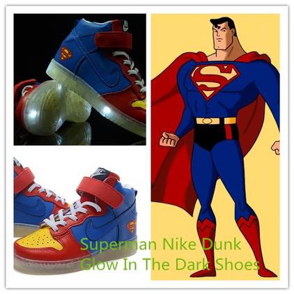 Blog - Superman Dunks For Kids Glow In The Dark Sneakers   Comic Nike Dunks   Scoop.it