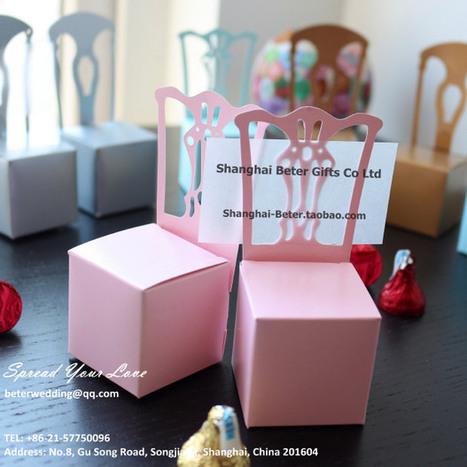 歐美爆款喜糖盒 粉色椅子席位卡,結婚禮品,婚慶用品TH005倍樂婚品 | 純歐式婚禮喜糖盒 倍樂婚品 | Scoop.it