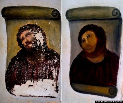 HOLY SHIT – La restauration d'une peinture du Christ tourne au massacre | Merveilles - Marvels | Scoop.it