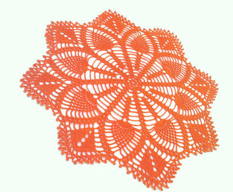 Crochet Doily, Orange,Table Centerpiece, Crochet Doilies,  Housewares, Table Decoration, | Crochet Miracles Shop on Etsy | Scoop.it