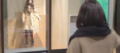 Des mannequins interactifs dans les vitrines d'un magasin japonais   Merchandising digitale   Scoop.it
